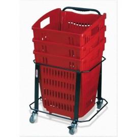 Support pour panier à roulettes 34 et 52 litres