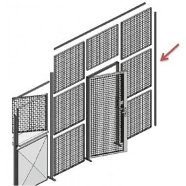 Poteau pour cloison industrielle départ mur
