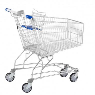 Chariot de magasins avec monnayeur