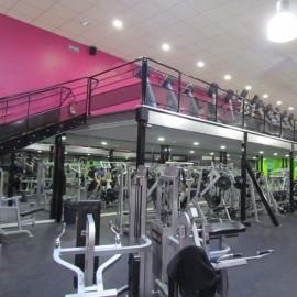 Mezzanine ERP pour salles de sport