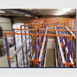 Stockage drive-in LIFO