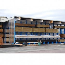 Stockage en exterieur bâtiment autoportant