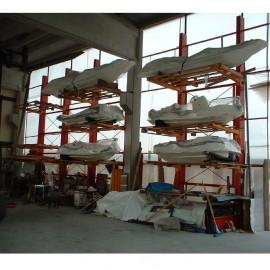 Stockage de bateaux et de jet ski sur rayonnage cantilever