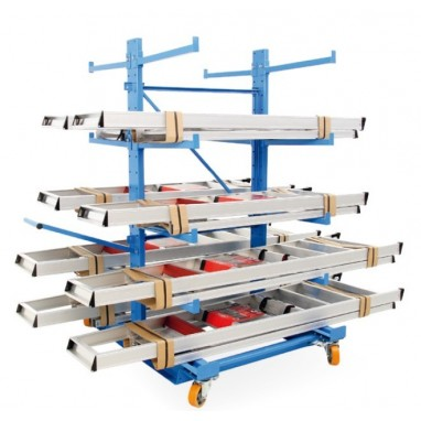 Rayonnage Cantilever mobile